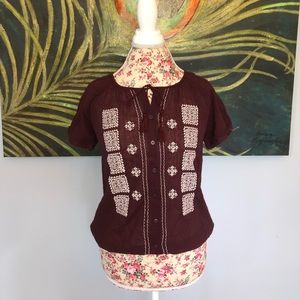 GAP pheasant top with embroidery